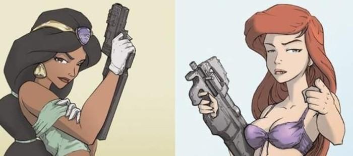 Las princesas Disney, convertidas en letales asesinas