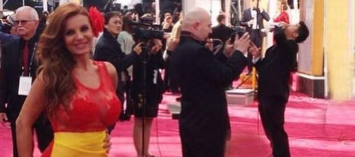 Sonia Monroy revoluciona las redes con su supuesta 'expulsi�n' de la alfombra roja de los Oscar