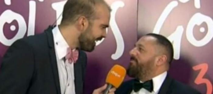 Pep�n Nieto estalla en una entrevista en directo tras los Goya: 'Estoy hasta los huevos'