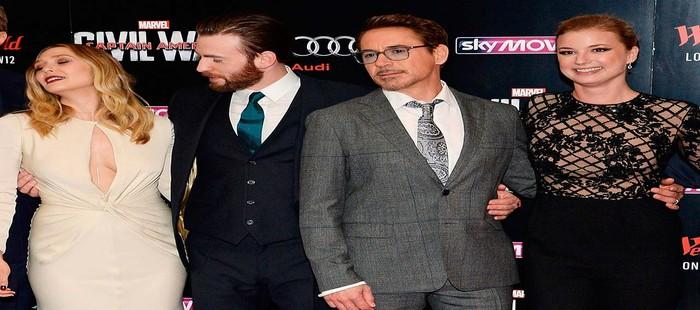 Capit�n Am�rica 3: Elizabeth Olsen acapara toda la atenci�n de Chris Evans en la premier