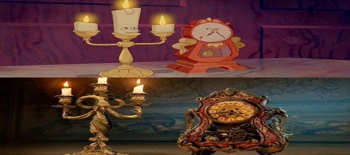 La Bella y la Bestia: Primera imagen de Cogsworth y Lumiere en el remake