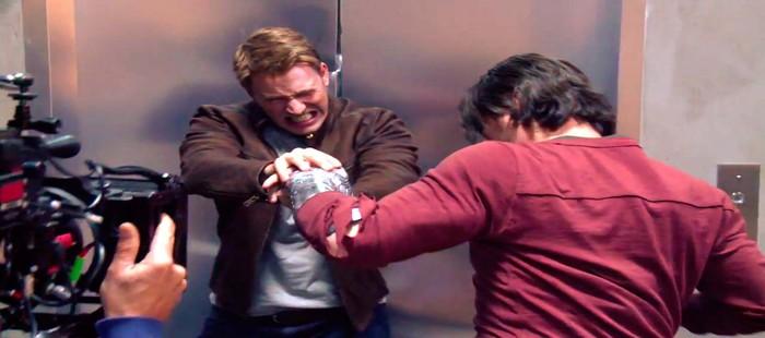 Capit�n Am�rica 3: V�deo de rodaje con el enfrentamiento de Steve y Bucky