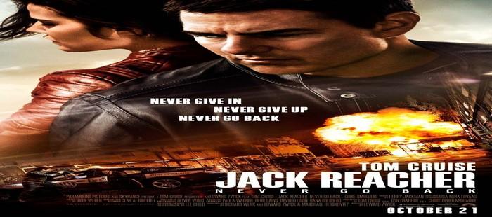 Jack Reacher 2: Se queda en el segundo puesto de la taquilla de cine USA durante el viernes