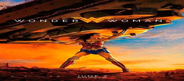 Wonder Woman: Espectacular Cartel con Diana en acción