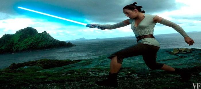 Star Wars Episodio 8: Espectacular imagen de Daisy Ridley en acción