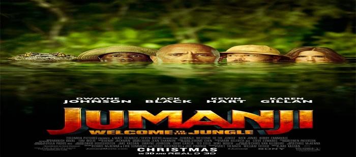 Jumanji: Nuevo cartel con todos sus protagonistas en el agua