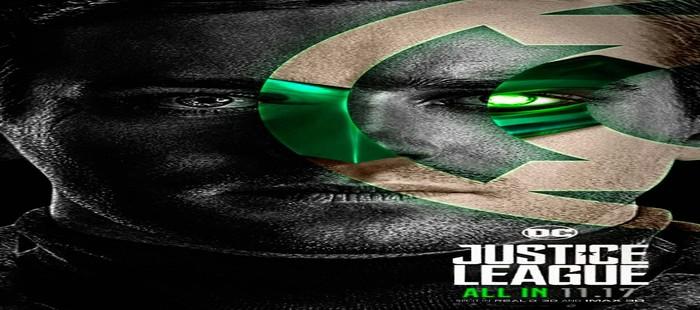 La Liga de la Justicia: Nuevo cartel fanart con Armie Hammer como Linterna Verde