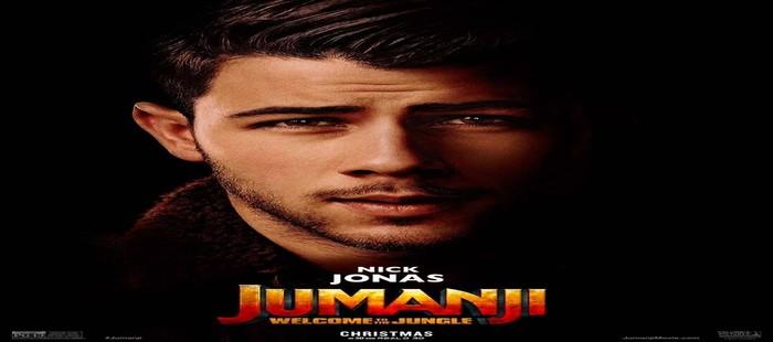 Jumanji: Nuevo cartel de personaje con Nick Jonas