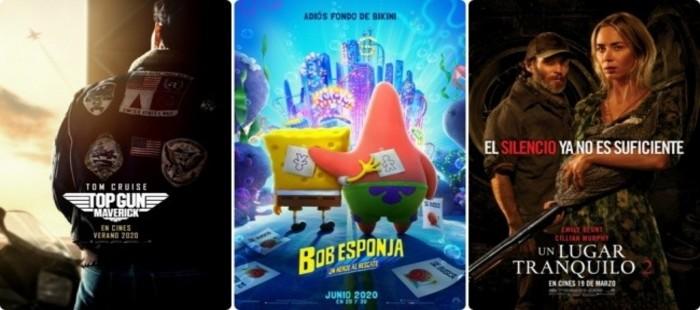 Nuevas fechas de estreno para 'Bob Esponja: Un héroe al rescate', 'Top Gun: Maverick' y 'Un lugar tranquilo 2'